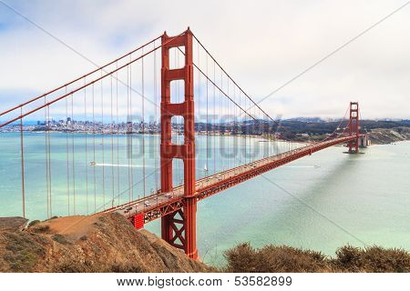 Golden Gate Bridge On Foggy Day, San Francisco, California