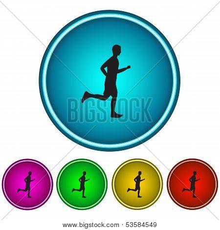 Running Man. Icon. Vector