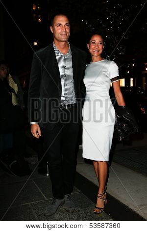 NEW YORK- NOV 6: TV personality Nigel Barker and wife Cristen attend a screening of 'Thor' at the Crosby Street Hotel on November 6, 2013 in New York City.