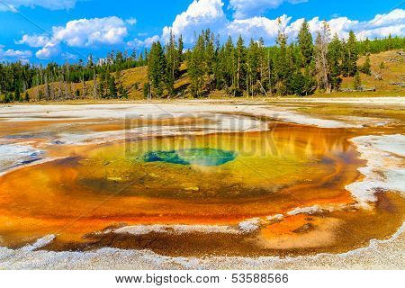 Chromatic Pool, Yellowstone National Park, Upper Geyser Basin, Wyoming