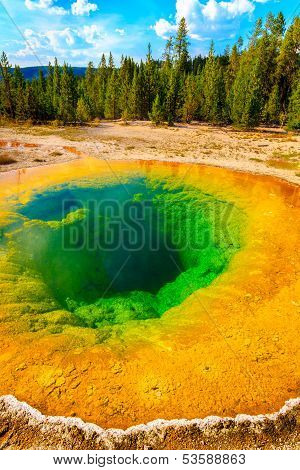 Morning Glory Pool, Yellowstone National Park, Upper Geyser Basin, Wyoming