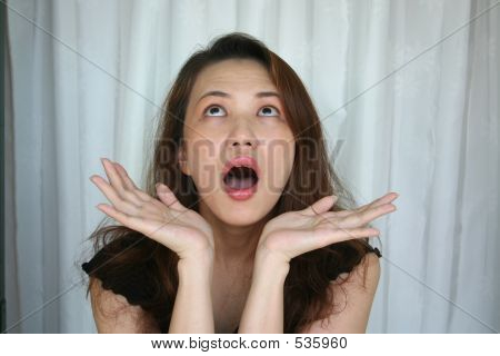 Woman's Shocking Expression