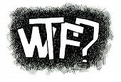 WTF? Hand drawn. Popular expression - Jpeg version. poster