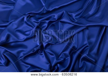 Abstract Background, Drapery Blue Fabric.