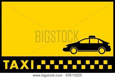 cab yellow backdrop with taxi car