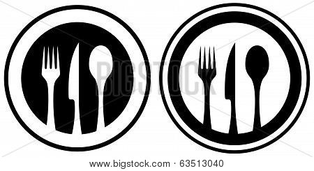 set food icon with kitchen utensil