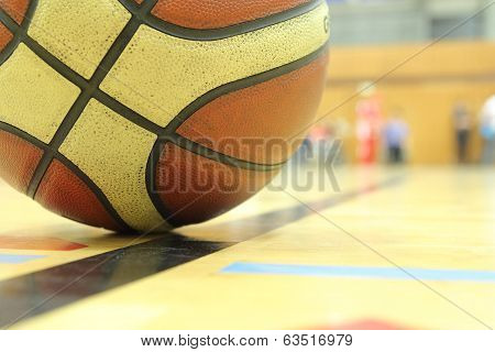 Basketball In A Gym