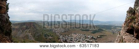 panorama of Israel in lower galilee near Kineret holy places poster