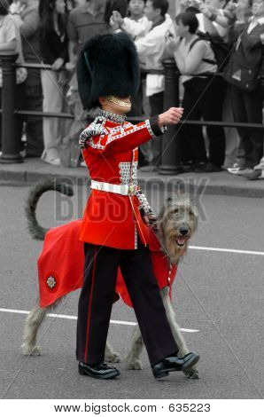 royal gaurd in london poster