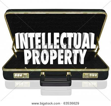 Intellectual Property Words Briefcase Licensed Product for Sale