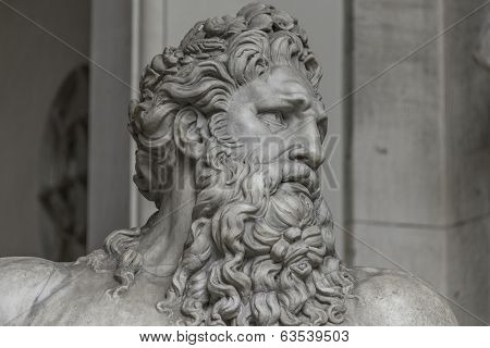 Statue Of Neptune At Capitoline, Rome, Italy