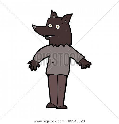 cartoon happy werewolf poster