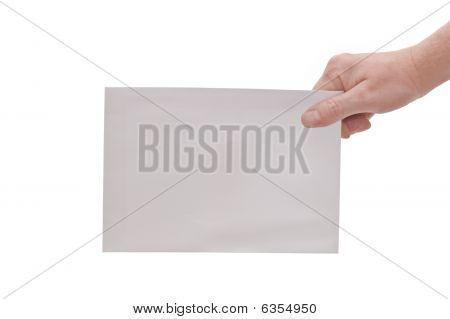 Hand & Large Envelope