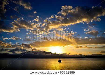 Sunset over Hobart, Tasmania