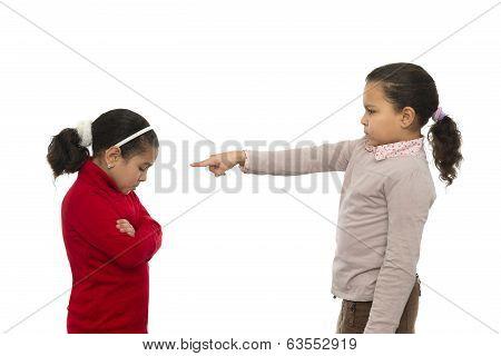 Two Sisters In Quarrel