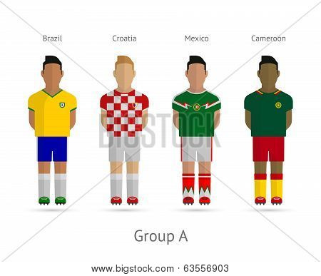 Football players team. Group A