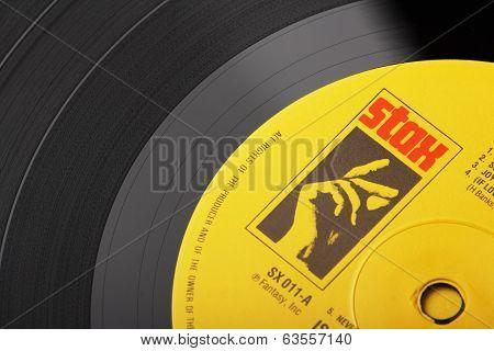Stax Vinyl Record Label