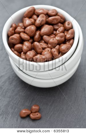 Raisins Covered In Delicious Chocolate