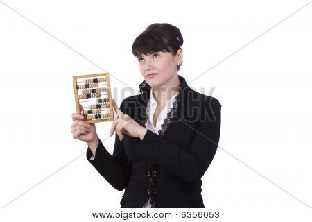 Woman With Abacus