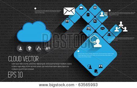 Cloud concept, vector