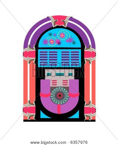 antique jukebox vector