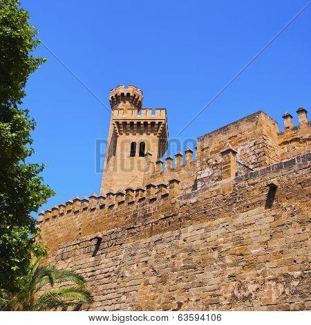 Palau de la Almudaina - palace in Palma de Mallorca Balearic Islands Spain poster