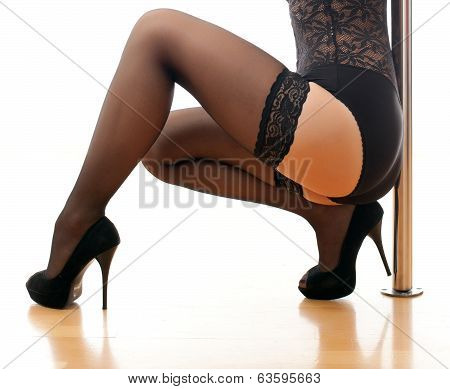 Woman's Body And Pole