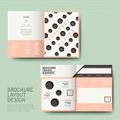 vector template of brochure design with repeat dot poster