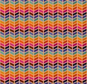vector seamless abstract pattern with color zigzags poster