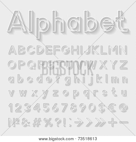 Decorative alphabet. Vector illustration