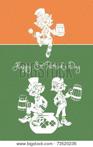 Leprechaun greeting Happy St. Patrick Day