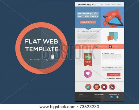 Flat designed web template