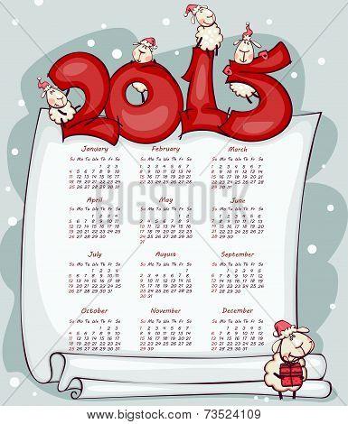 calendar 2015 with the ram goat