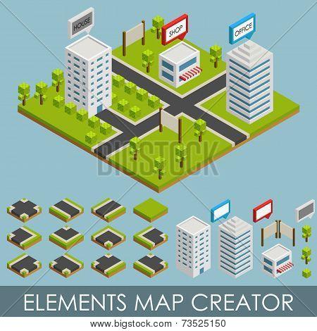 Isometric elements map creator