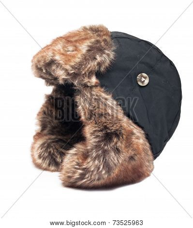 Hat With Ear Flaps Isolated
