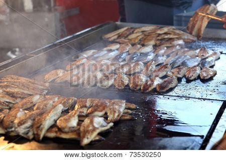 Roasting Fish For Sandwich