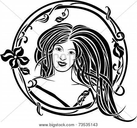 Girl Portrait In The Art Nouveau Style