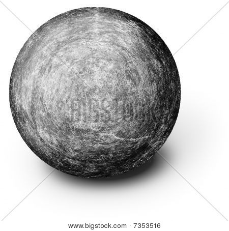 Perfectly Round Ball Shaped Stone On White