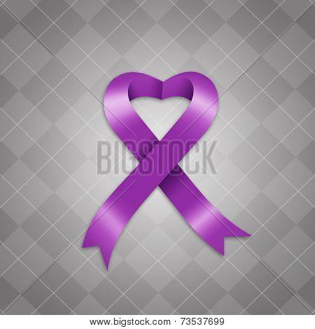 Awareness Violet Ribbon