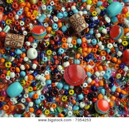 Color beads for needlework