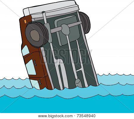Car Floating In Water