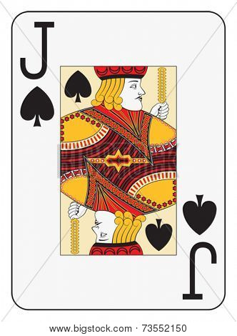 Jumbo index jack of spades playing card