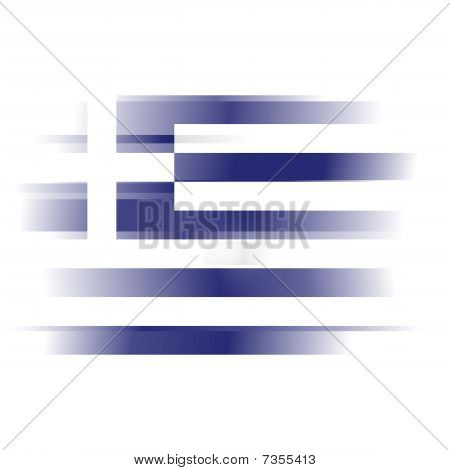 Abstract Flag Of Greece On White Background
