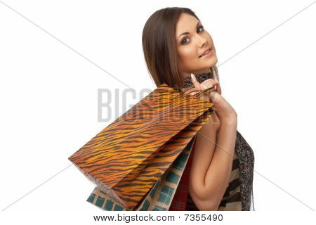 Girl With Bags