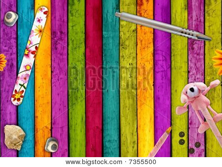 Colorful Girly Background