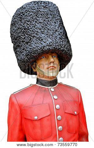 English royal guard made of plastic