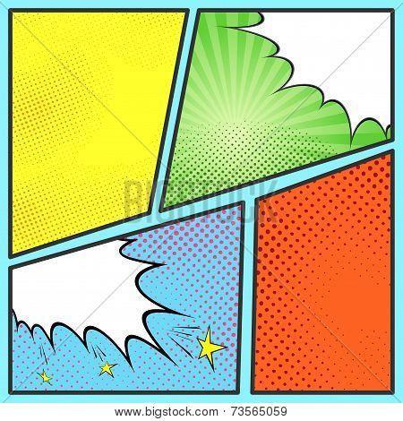 Pop-art Comic Page Sheet Template