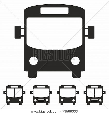 Bus icon set
