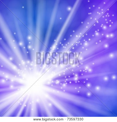 Vector illustration of a flash with rays