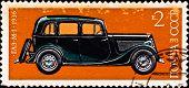 "USSR - CIRCA 1975: postage stamp shows vintage car ""GA-M1"" circa 1975 poster"